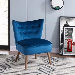 Elle Mid-century Velvet Accent Chair