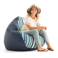 "Big Joe Outdoor 132"" Teardrop Bean Bag Chair, Cool Cozumel Stripe"