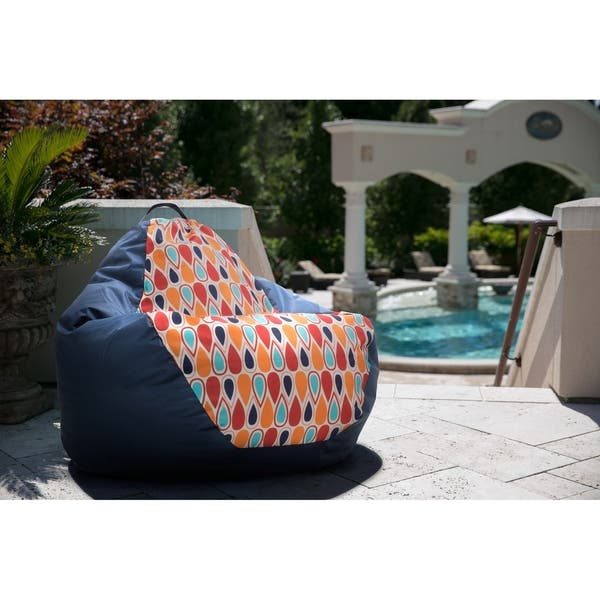 Surprising Shop Big Joe Outdoor 132 Teardrop Bean Bag Chair Fiesta Onthecornerstone Fun Painted Chair Ideas Images Onthecornerstoneorg