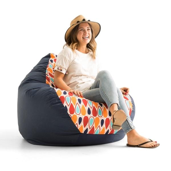 "Big Joe Outdoor 132"" Teardrop Bean Bag Chair, Fiesta Geo Drop"