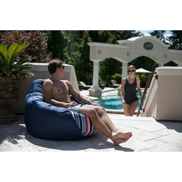 "Big Joe Outdoor 132"" Teardrop Bean Bag Chair, Fiesta Cozumel Stripe"