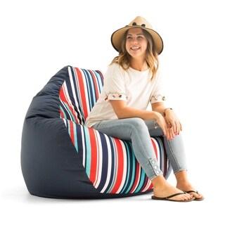 "Big Joe Outdoor 132"" Teardrop Bean Bag Chair, Fiesta Cozumel Stripe"