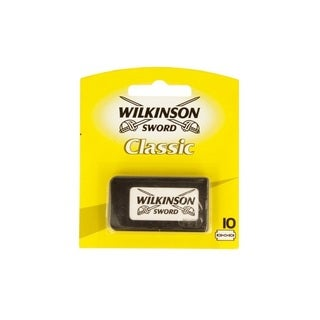 Wilkinson Sword Classic 10-Count Double Edge Refill Blades Yellow