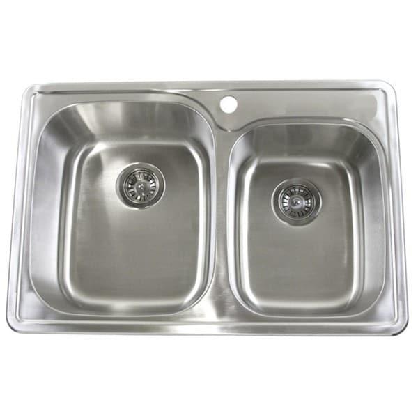 Silvertone Stainless Steel Top Mount 18-gauge Kitchen Sink - Free ...