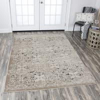 "Rizzy Home Panache Beige Medallion Area Rug (6'7 x 9'6) - 6'7"" x 9'6"""