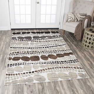 Rizzy Home Xcite Ivory Rocks Area Rug (5'2 x 7'3)