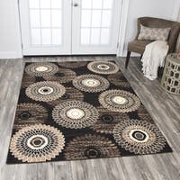 "Rizzy Home Xcite Brown Medallion Area Rug (5'2 x 7'3) - 5'2"" x 7'2"""