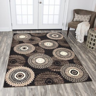 Rizzy Home Xcite Brown Medallion Area Rug (5'2 x 7'3)