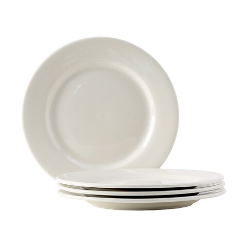 Tuxton Home Reno Off-white Ceramic Wide-rimmed Salad Plate (Set of 4)