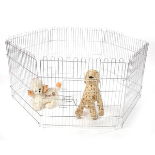 "28"" 6-Piece Foldable Pet Fence"