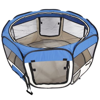 Oxford Cloth Portable Foldable 8-Panel 45-inch Pet Playpen