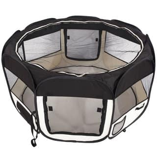 "45"" Portable Foldable 8-Panel Pet Playpen (Option: Pink)