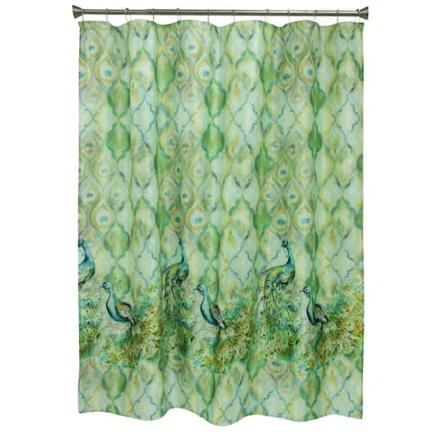 Peacock Shower Curtain by Bacova