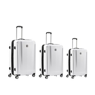 Ful Load Rider White 3-piece Expandable Hardside Spinner Luggage Set