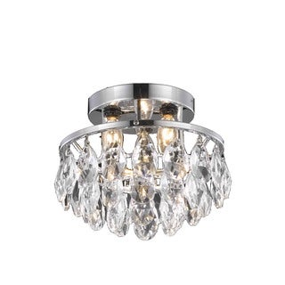 Living District Clara Collection Chrome Flush Mount