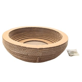 Bowl-style Harden Corrugated Paper Pet Cat Toy