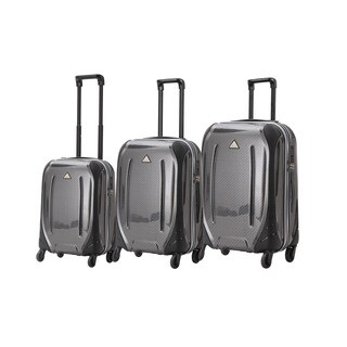Triforce Empire Black Hardside Spinner Upright Luggage (Set of 3)