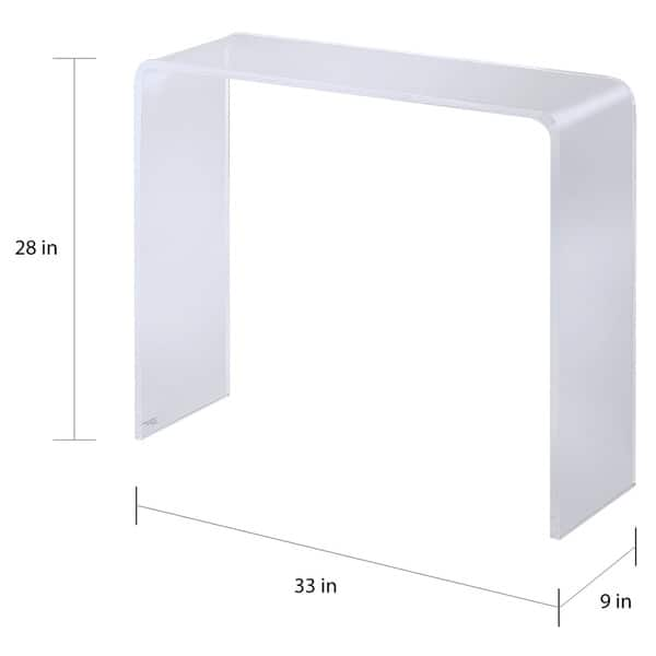 Lucite Clear Acrylic Console Table - On Sale - Overstock - 16150611