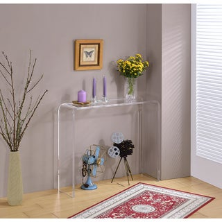 Lucite Clear Acrylic Console Table