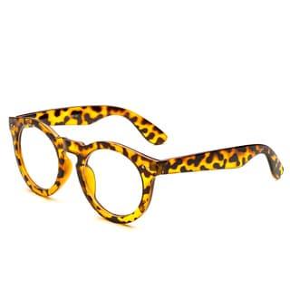 Pop Fashionwear P4016CL Unisex Classic Retro Round Clear Lens Sunglasses