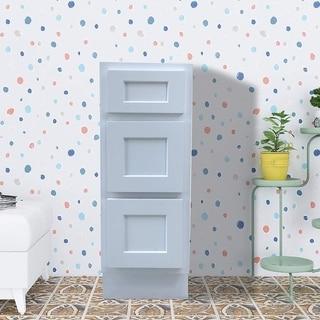 Vanity Art 12 Inch Bathroom Vanity Base Cabinet Solid Wood Small Bathroom Storage Floor Cabinet - White, Gray, Brown