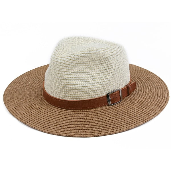 4f426795 Shop Pop Fashionwear Unisex Retro Fashion Straw Panama Hat - Free Shipping  On Orders Over $45 - Overstock - 16150634