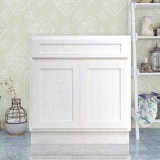 Vanity Art 30 Inch Single Sink Bathroom Vanity Cabinet (Option: White    White Finish