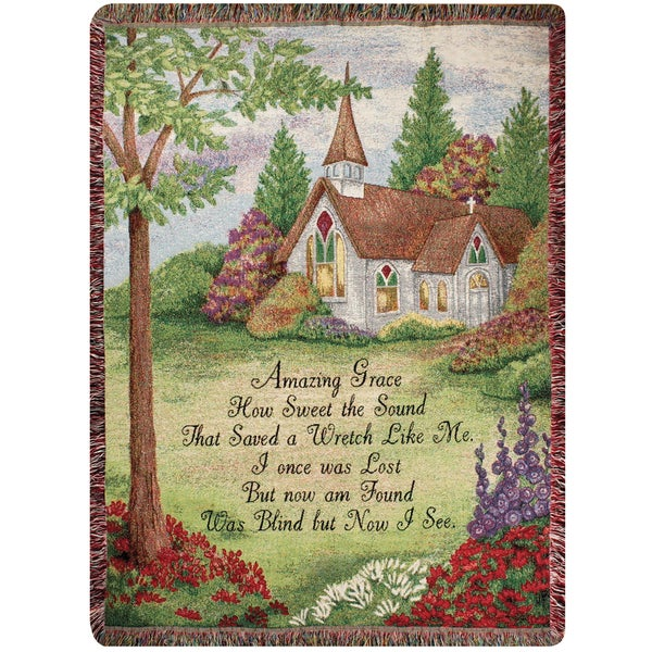 Manual Woodworkers Amazing Grace Tapestry Throw
