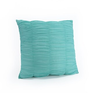 Spice Market Gathered Decoration Throw Pillow #1 (Turquoise)