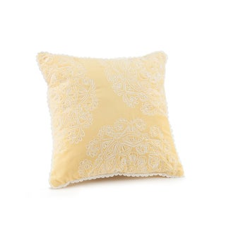 Jessica Simpson Ellie Decoration Yellow 16x16 #3 Throw Pillow
