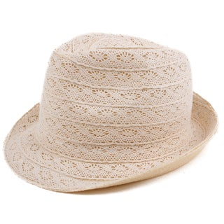Pop Fashionwear Fashion Lace Fedora Hat
