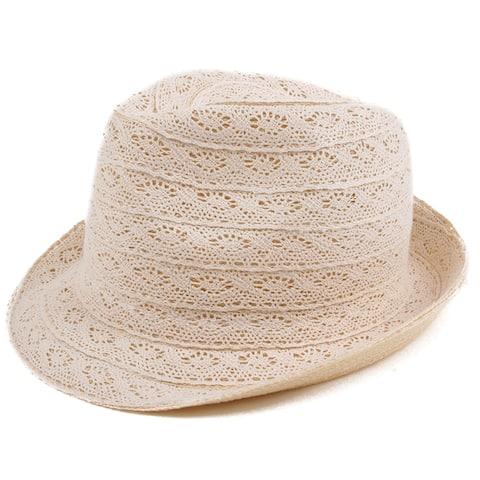 Pop Fashionwear Fashion Lace Fedora Hat
