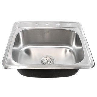 Link to 25-Inch Stainless Steel Top Mount Drop In Single Bowl Kitchen / Bar/ Island Sink - 18 Gauge Similar Items in Sinks