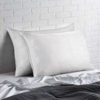 Link to Poly-Cotton Superior Down-Like Soft Pillow (Set of 2) - Best for Stomach Sleepers - White Similar Items in Pillows