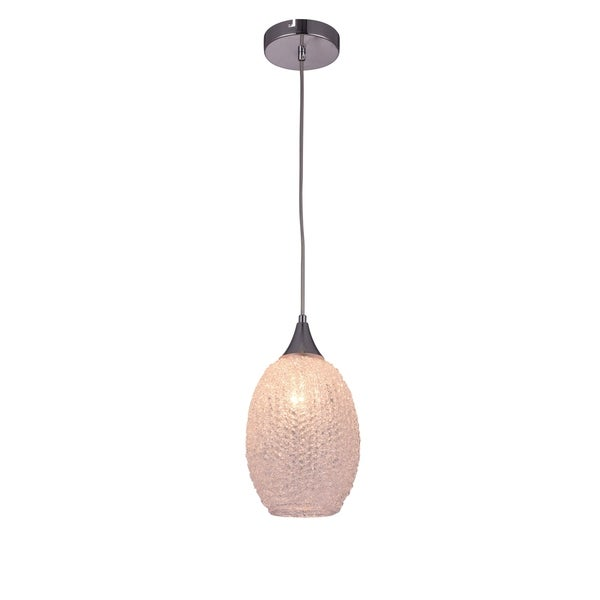 Living District Glacia Collection Clear Acrylic Pendant