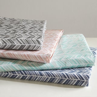 Madison Park Essentials Chevron Printed Sheet Set 4 Color Option