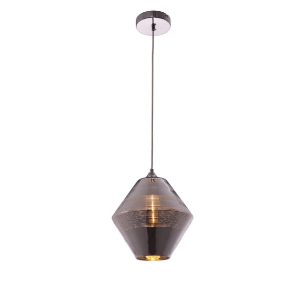 Living District Reflection Collection Chrome Pendant with Horizontal Lines