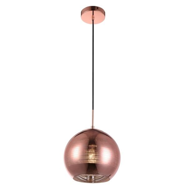 Living District Reflection Collection Copper Pendant with Horizontal Lines