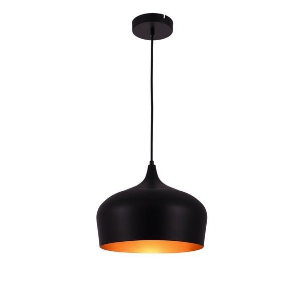 Living District Nora Collection Black Pendant