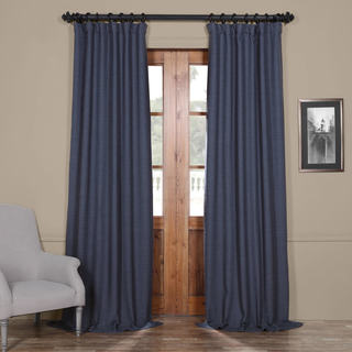 Exclusive Fabrics Bellino Blue Blackout Curtain Panel