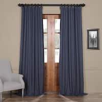 Exclusive Fabrics Bellino Blue Blackout Curtain Panel