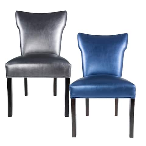 BELLA Collection SIZZLE Upholstered Contemporary Armless Dining Side Chairs, Espresso legs (Set of 2)