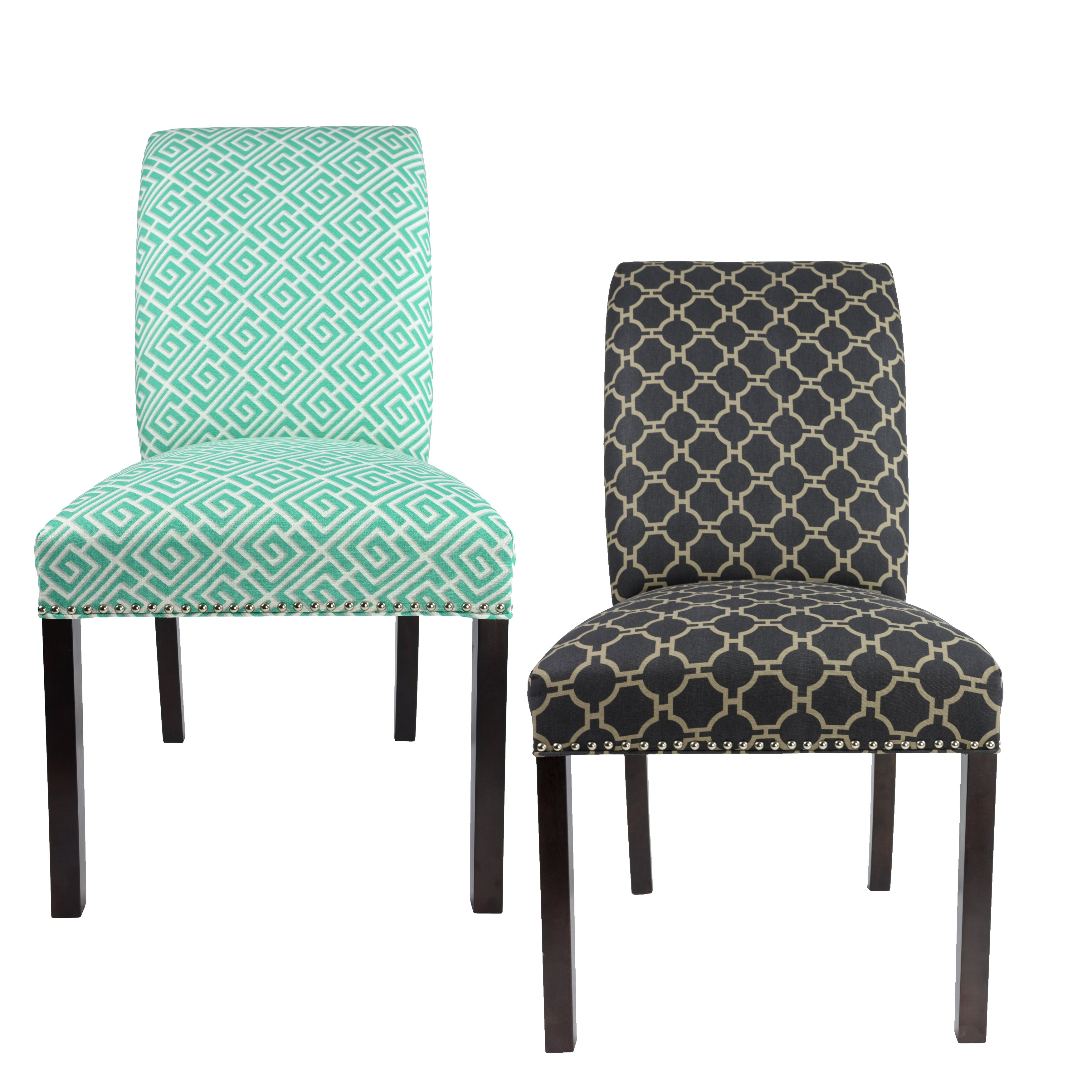 Sole Designs Dayna Curve Back Style GEO Lovely Upholstere...