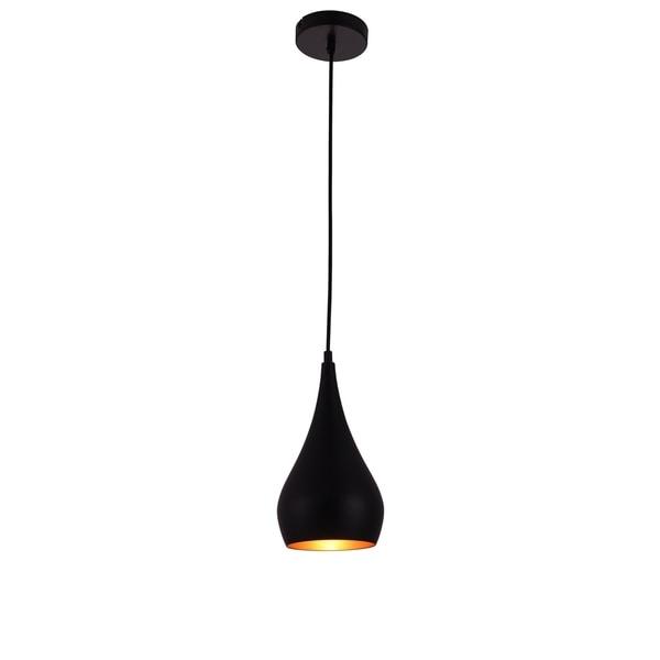 Living District Nora Collection Black 1-Light Pendant