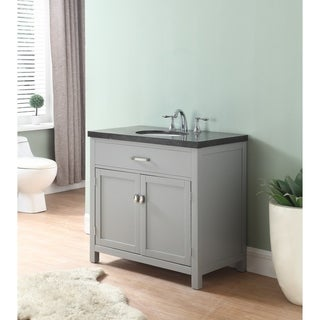 newport bathroom vanity in grey finish with blue stone marble top