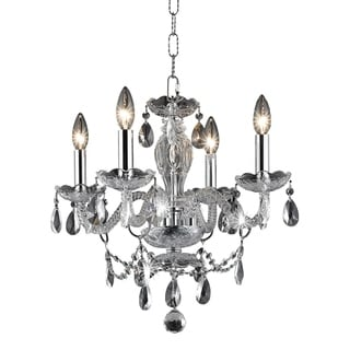 Living District Elle Collection Chrome 4-Light Pendant