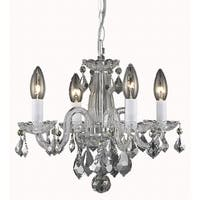 Living District Azalea Collection Chrome 4-Light Pendant