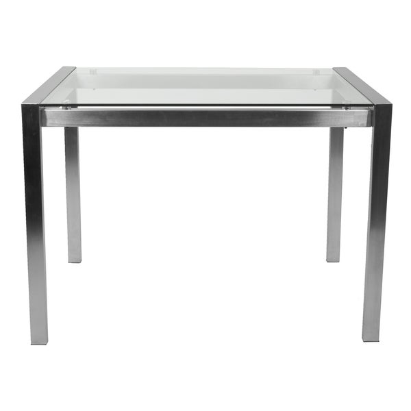 LumiSource Fuji Contemporary Stainless Steel Counter Table   Silver   Free  Shipping Today   Overstock.com   22527490