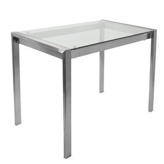 LumiSource Fuji Contemporary Stainless Steel Counter Table - Silver