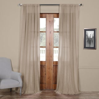 Exclusive Fabrics Faux Linen Sheer Curtain Panel (2 options available)